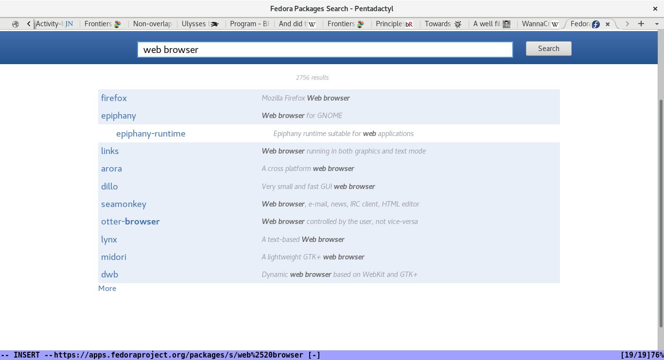 The Fedora packages web application